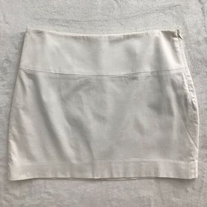 Women's white mini skirt
